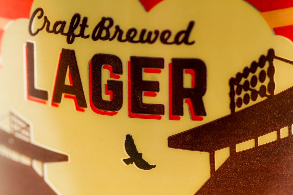 Beer League Craft Brewed Lager Can Close-up Central City
