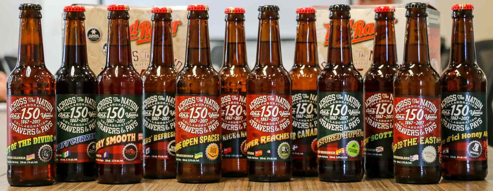 Red Racer Across The Nation Collaboration Bottles Canada 150 Central City Brewers and Distillers