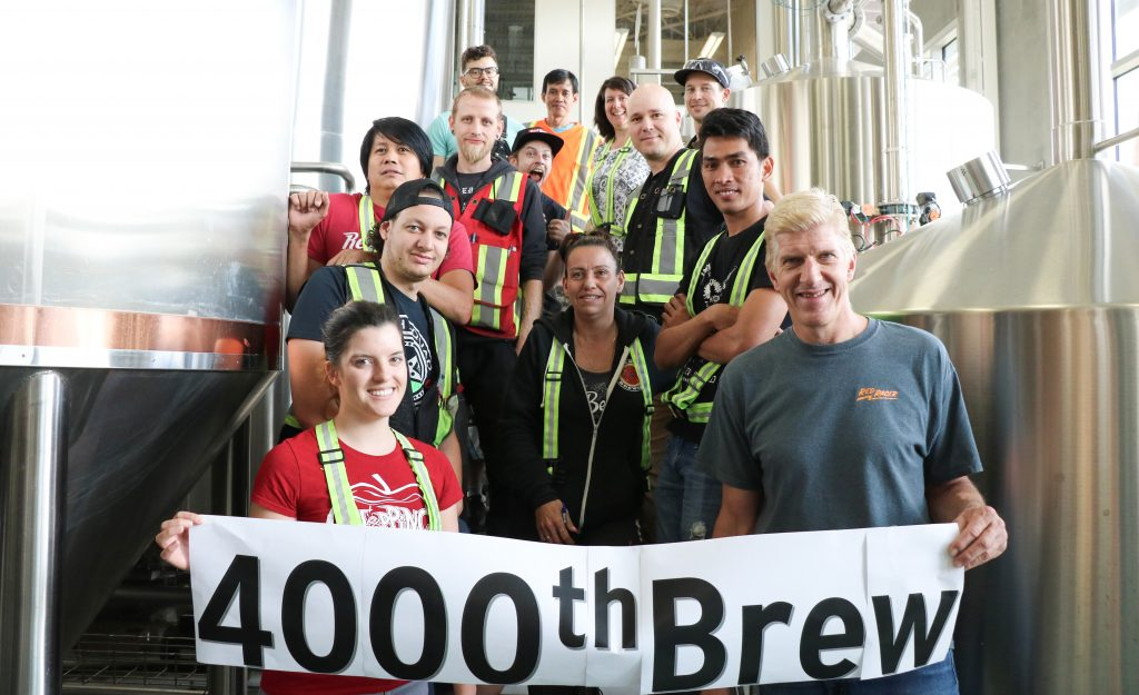 Red Racer beer 4000th brew Central City