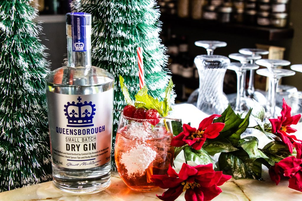 Central City Queensborough Gin Red Velvet Winter Holidays Cocktail 2018