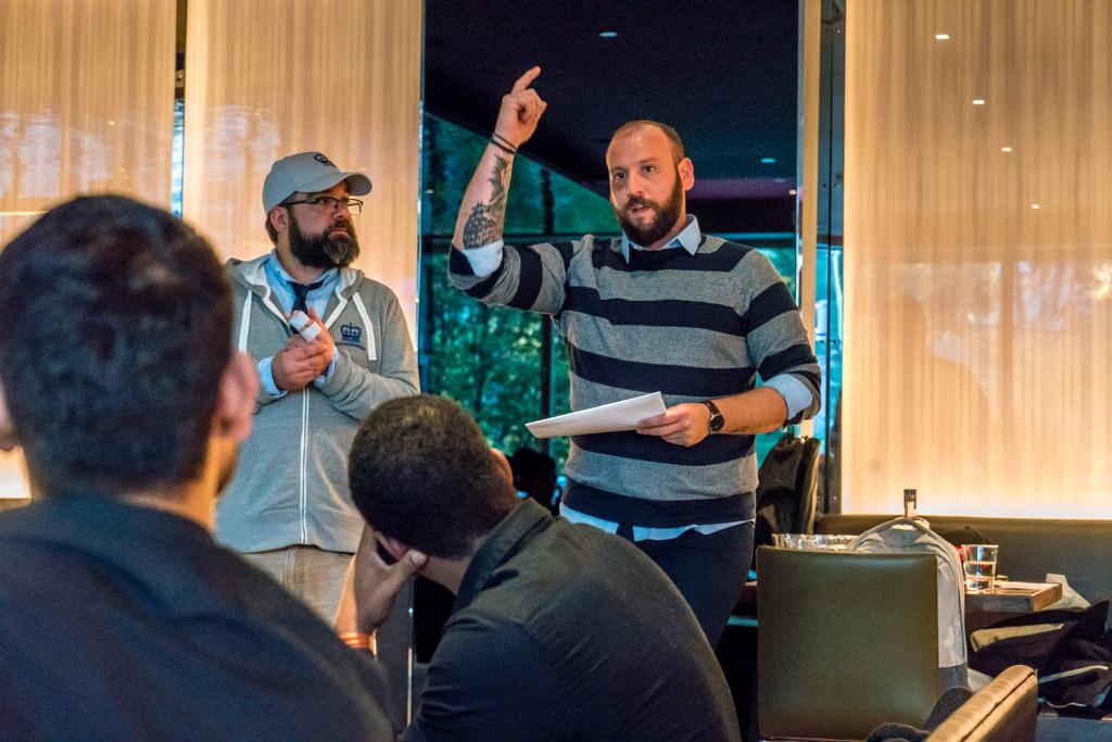Central City Beer and Spirits Training Hyatt Regency Liam and Christos