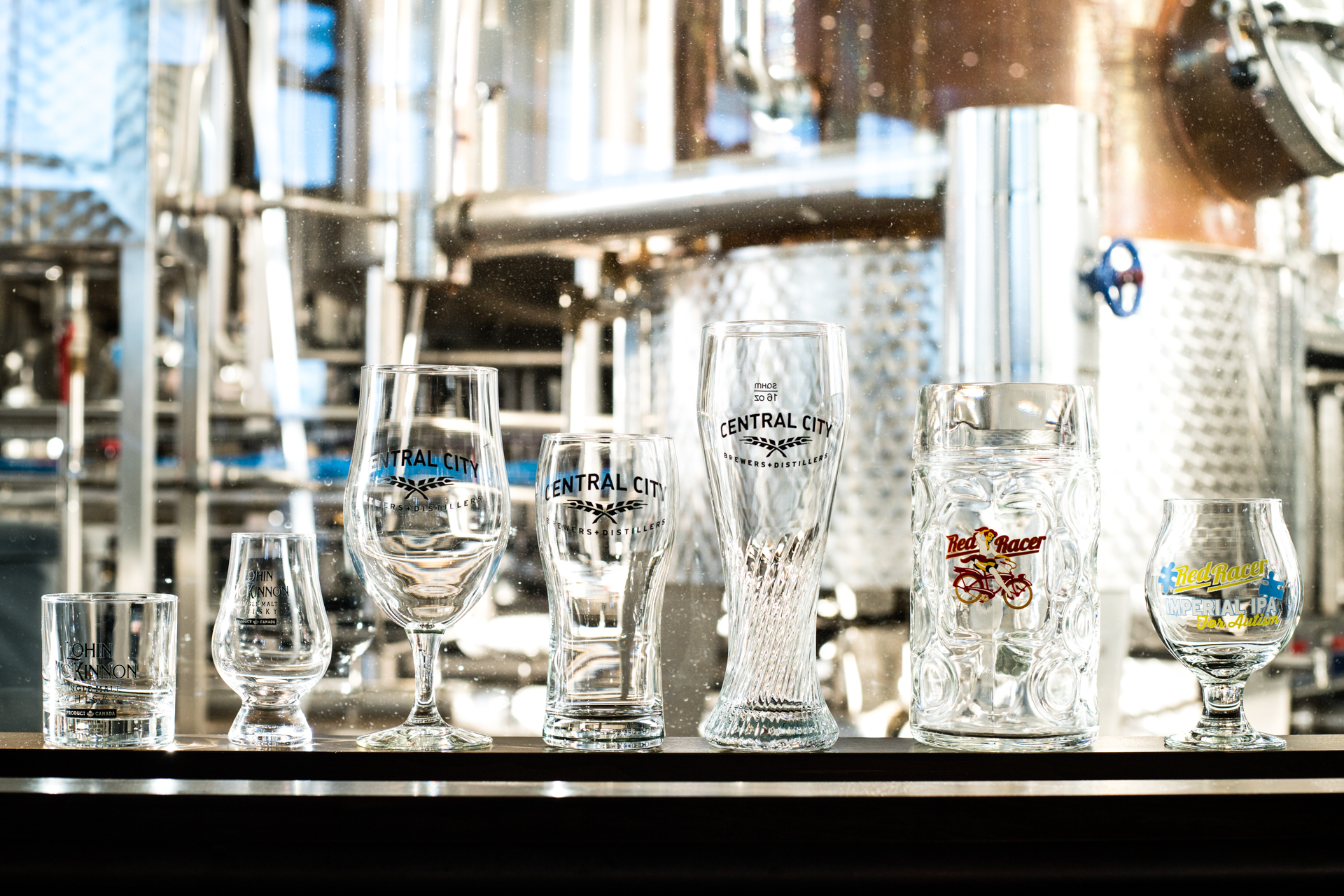 Central City Gift Ideas Branded Glassware