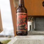 Red Racer Lucky Dog Chinese New Year Collaboration Bottle Closeup